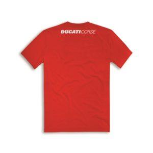 98769502 Official t shirt Ducati corse cotton Sketch red man Ducati shop online store original apparel merchandise