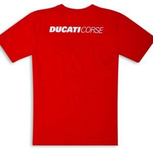 98769907 Official t shirt Ducati corse red cotton man Ducati shop online store original apparel merchandise