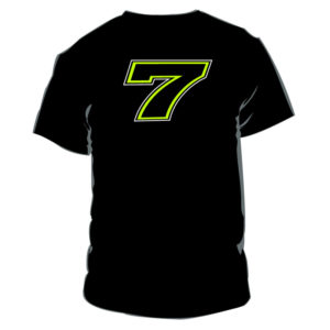 Tshirt Chaz Davies 7 black man WSBK Official Merchandise