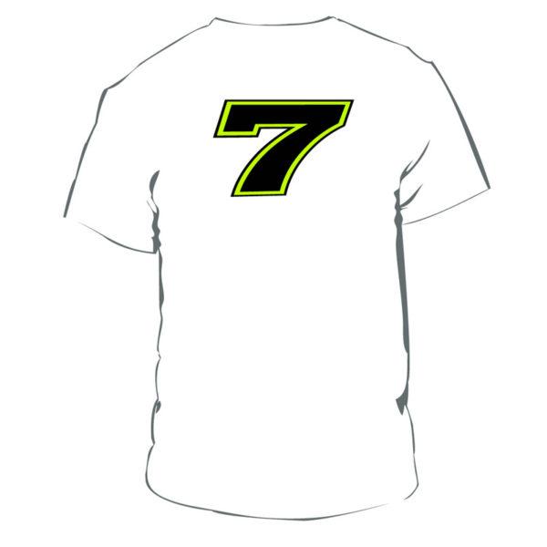 Tshirt Chaz Davies 7 white man WSBK Official Merchandise