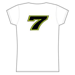 Official Tshirt Chaz Davies 7 white woman wsbk Superbike