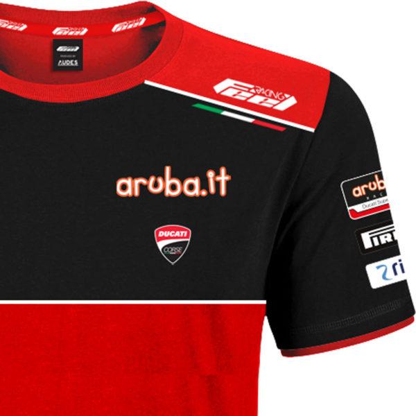 Tshirt Official Ducati Corse Team Aruba Racing World Superbike Man WSBK 2021 Ducati shop online store original apparel merchandise