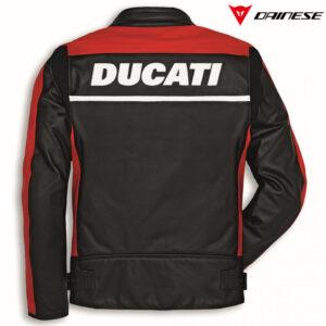 9810323 Giubbino Giacca Jacket pelle Company C2 Ducati Uomo Leather Jacket Dainese rossa