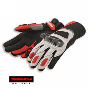 98103706 Guanti pelle tessuto Ducati Sport C3 Spidi Leather tex technical gloves