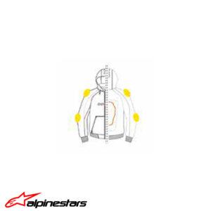 98104488 Giacca Felpa tecnica protezioni Ducati Downtown C1 Alpinestars