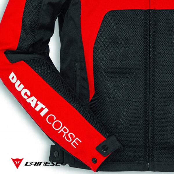 9810458 Giubbino Giacca Tessuto Tex Ducati Corse Estiva Summer C2 Uomo Dainese rossa