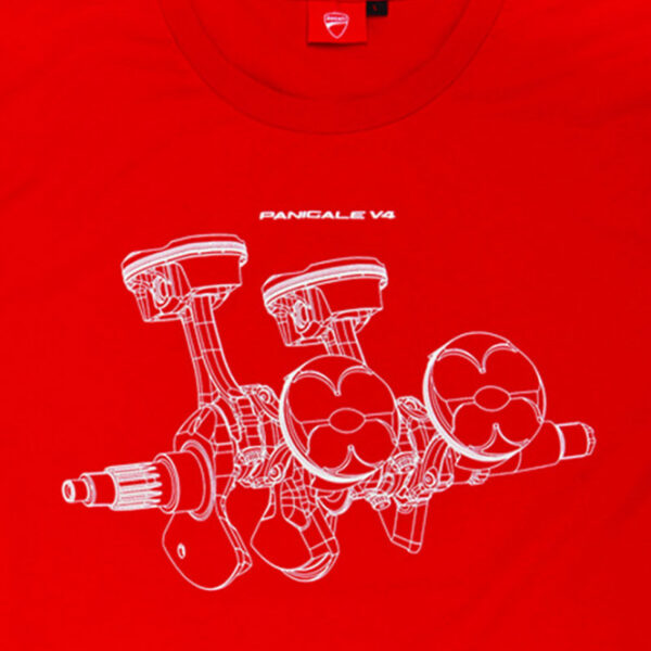 98769803 Tshirt Ducati Corse Panigale v4 uomo rossa