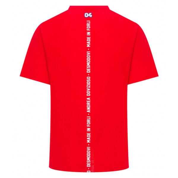 1932203 Tshirt Andrea Dovizioso AD04 19 Rossa Uomo